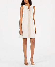 Pappagallo Brook Metallic Crochet Dress