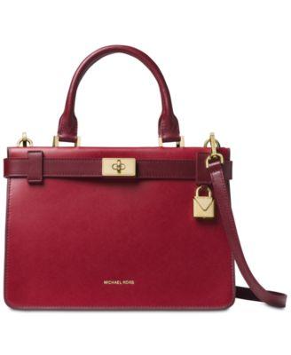 michael kors tatiana small leather satchel handbags accessories rh macys com