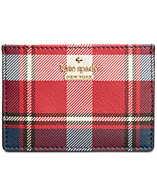 kate spade new york Cameron Street Rustic Plaid Card Holder