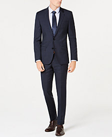 Hugo Boss Men's Slim-Fit Blue Plaid Suit Separates