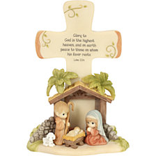 Precious Moments Glory To God Tabletop Nativity Cross