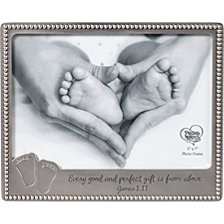 Every Good And Perfect Gift Baby Footprints Photo Frame