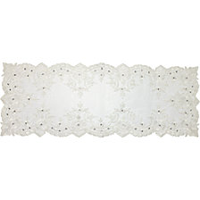 White Lace Elegance Table Runner