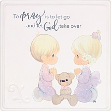 To Pray Is To Let Go Praying Boy And Girl Wall Plaque
