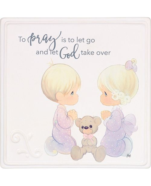 2f55827f0 ... Precious Moments To Pray Is To Let Go Praying Boy And Girl Wall Plaque  ...