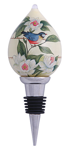 Ne'Qwa Art Hand-Painted Blown Glass Blessed From Above Wine Stopper