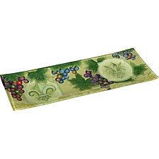 Ne'Qwa Art Hand-Painted Glass Fleur De Lis Vines Serving Tray