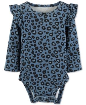 Carters Baby Girls AnimalPrint FlutterTrim Cotton Bodysuit