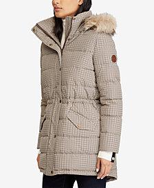 Lauren Ralph Lauren Faux-Fur Printed Anorak Coat