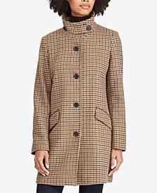 Lauren Ralph Lauren Houndstooth A-Line Coat