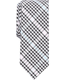 Bar III Men's Dobby Deco Gingham Skinny Tie, Created for Macy's