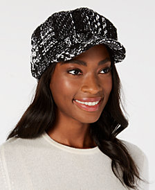 I.N.C. Oversized Plaid Newsboy Cap, Created for Macy's