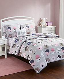 Furry Friends 5 Pc Twin Comforter Set