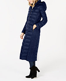 MICHAEL Michael Kors Hooded Maxi Puffer Coat