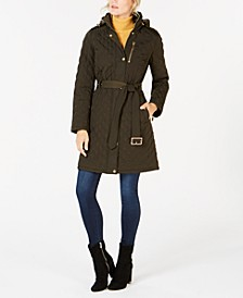 Hooded Quilted Jacket, Created For Macy's