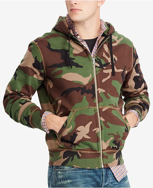 Polo Ralph Lauren Men s Camo Fleece Hoodie - Hoodies   Sweatshirts ... e9d7546a290f