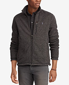 Polo Ralph Lauren Men's Big & Tall Fleece Mock Neck Jacket