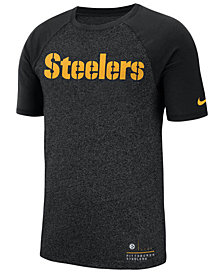 Nike Men's Pittsburgh Steelers Marled Raglan T-Shirt