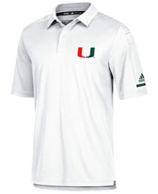 adidas Men's Miami Hurricanes Team Iconic Coaches Polo