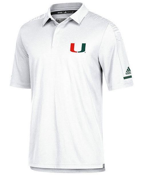 adidas Men's Miami Hurricanes Team Iconic Coaches Polo
