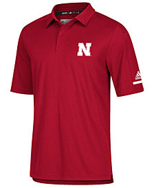 adidas Men's Nebraska Cornhuskers Team Iconic Coaches Polo