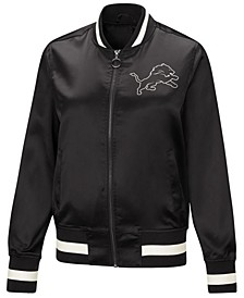 Women's Detroit Lions Touch Satin Bomber Jacket