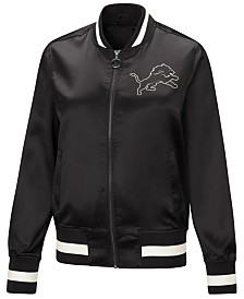 Touch by Alyssa Milano Women's Detroit Lions Touch Satin Bomber Jacket
