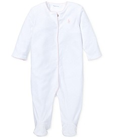 Ralph Lauren Baby Girls Velour Coverall