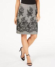 Anne Klein Lace-Trim Pencil Skirt