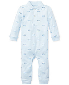 Ralph Lauren Baby Boys Cotton Polo Coverall