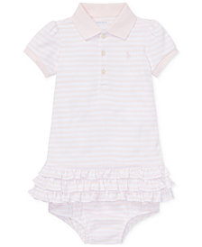Ralph Lauren Baby Girls Striped Polo Dress