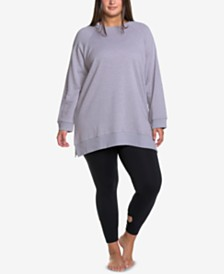 Soffe Curves Plus Size Throw-Back Sweatshirt, Created for Macy's