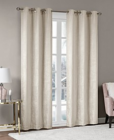 "Luxe 42"" x 63"" Chenille Gromments Window Curtain Pair"
