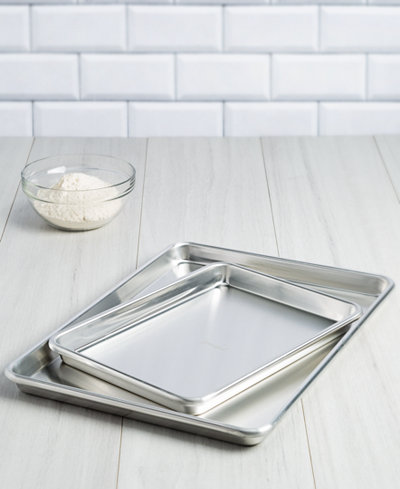 Goodful™ 2-Pc. Aluminum Cookie Sheet & Brownie Pan Set, Created for Macy's