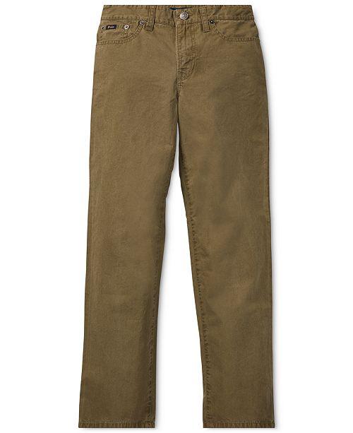 fd4097d3da946 Polo Ralph Lauren Big Boys Varick Slim Fit Cotton Pants   Reviews ...