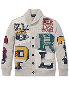 Polo Ralph Lauren Toddler Boys Patchwork Cotton Cardigan