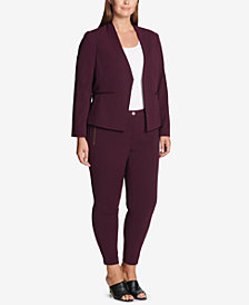 Calvin Klein Plus Size Asymmetrical Jacket & Ankle Pants