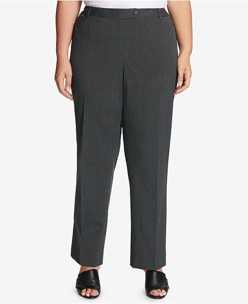 fcc17ffe434 Calvin Klein Plus Size Straight-Leg Pants   Reviews - Pants   Capris ...