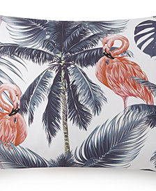 Flamingo Palms Pillow Sham Standard/Queen