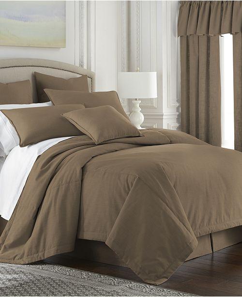 Colcha Linens Cambric Walnut Duvet Cover-Twin