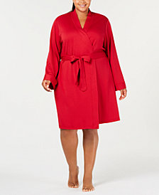 Charter Club Plus Size French Terry Robe, Created for Macy's