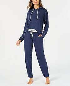 Alfani Brushed Hacci Knit Pajama Separates, Created for Macy's