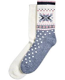 HUE® 2-Pk. Fair Isle Boot Socks