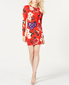 GUESS Sean Cutout O-Ring Bodycon Dress