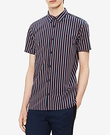 Calvin Klein Men's Yarn Dyed Striped Shirt