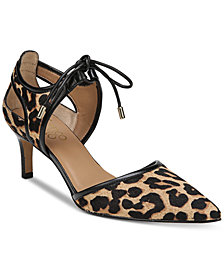 Franco Sarto Darlis Ankle-Tie Pointed-Toe Pumps