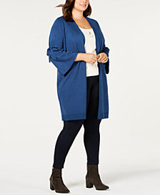Love Scarlett Plus Size Bell-Sleeve Duster Cardigan