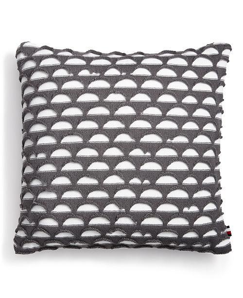 "Tommy Hilfiger Blackrock Knit 20"" Square Decorative Pillow"