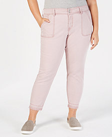 Style & Co Plus Size Raw-Hem Skinny Pants, Created for Macy's