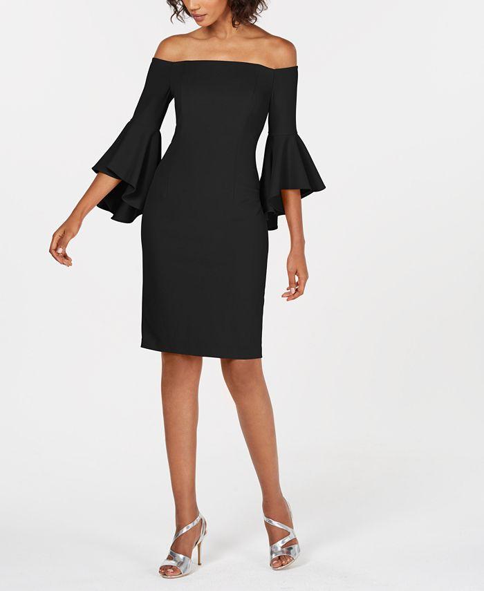 Calvin Klein - Off-The-Shoulder Sheath Dress